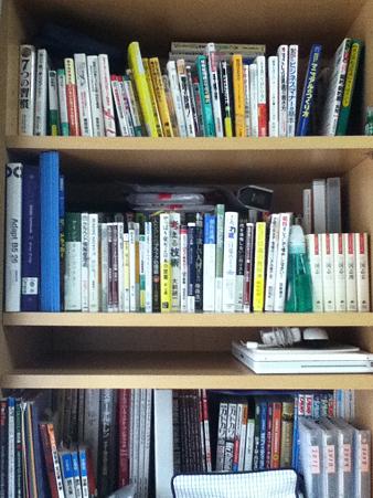 20110626整理整頓後の本棚