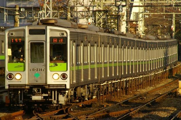 笹塚駅折り返し線工事のため桜上水駅で折り返す都営車