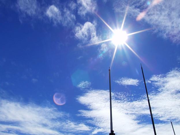 写真: 空と太陽