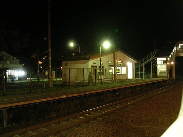 滝ノ上ホームと駅舎