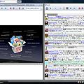 写真: Opera分割表示:Twicli&アップルキーノート