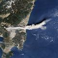 Photos: 新燃岳と桜島