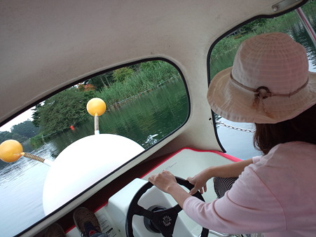 蓼科湖ボート遊び