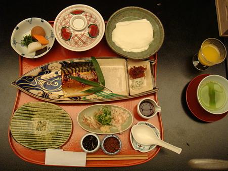 和風の朝食@強羅花壇