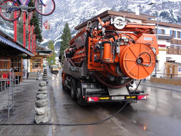スイス グリンデルヴァルト 消防車