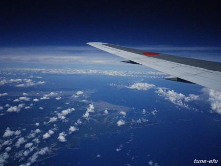 地図で見る形・四国上空