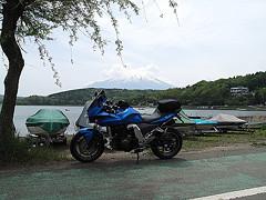 山中湖北東より Zと富士
