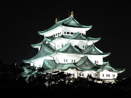 ライトアップ 名古屋城