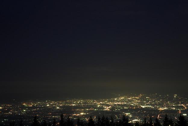櫛形山からの甲府盆地