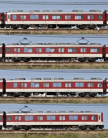 近鉄2610系2615F(X15)海側側面 2010.03.14