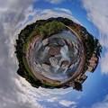 2012年6月26日 長尾川河畔 飛び石 360度パノラマ写真 Little Planet