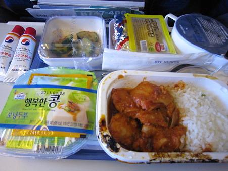 大韓航空の朝食
