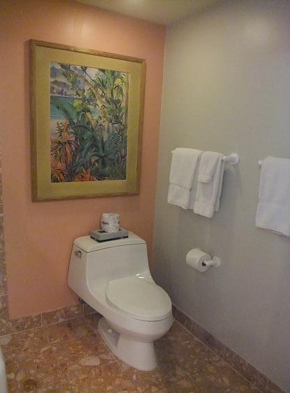 ハワイ島 コナコーストリゾート 2個目のバスルーム お手洗い