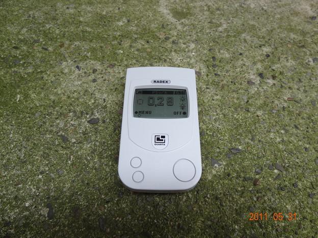 足立区の0メートル放射線量