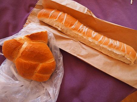 塩ののったパン