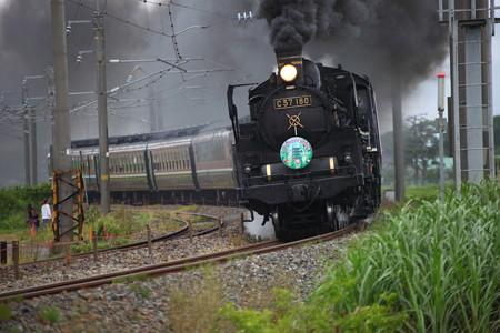 C57-180快速「SL山形DC架け橋号」3