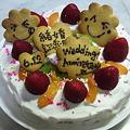 写真: 結婚記念日のケーキ