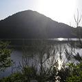 写真: 宝ヶ池とお日様