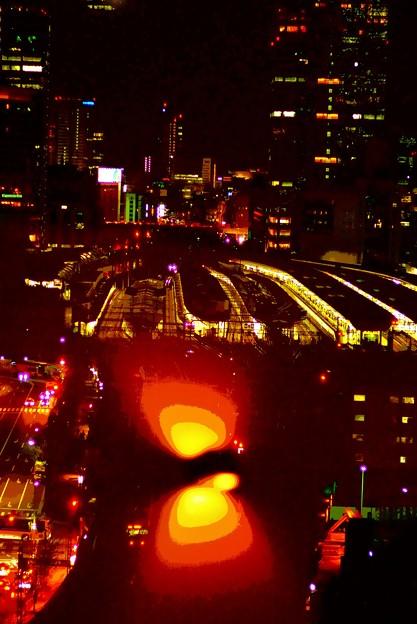 眼下の東京駅。