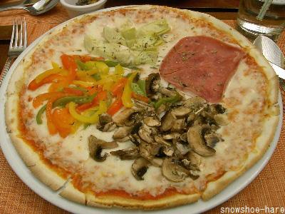 大きなピザ