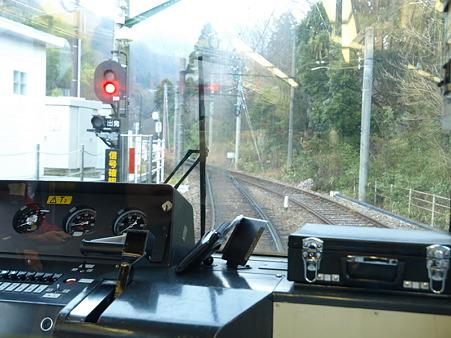 箱根登山電車の車窓(彫刻の森駅)