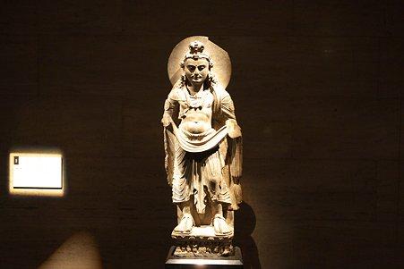 2010.11.15 東京国立博物館 仏像の道-インドから日本へ 菩薩立像 ガンダーラ