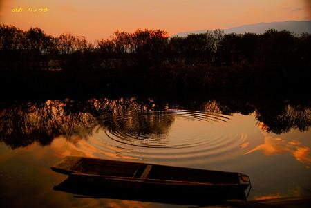 夕暮れの揖斐川