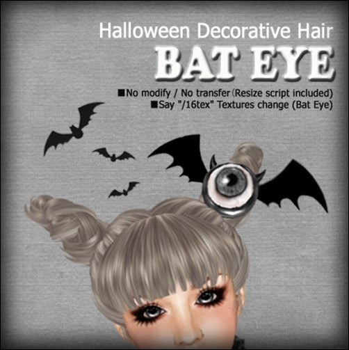 [ Love Soul ] Hair*060-Halloween Deco*Bat Eye