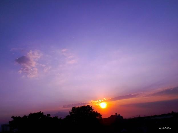沈みゆく太陽・・・紫の刻