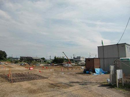 スーパーセンターオークワ岐阜坂祝店 2011年3月1日 開店予定で地盤工事中-220920-1
