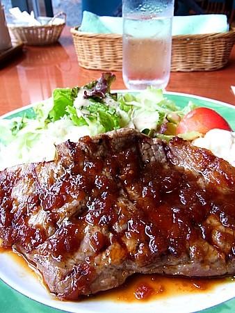 網焼きステーキ定食