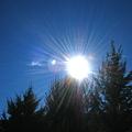 写真: 2007/01/01 太陽シャワーと龍雲@セドナ