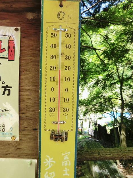 気温21度(櫻茶屋前)