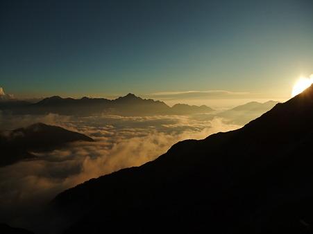 唐松岳山荘からの眺望