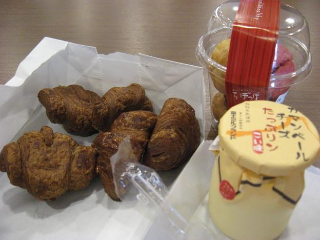 写真: 足柄SAでの朝ご飯